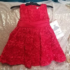 Red toddler dress